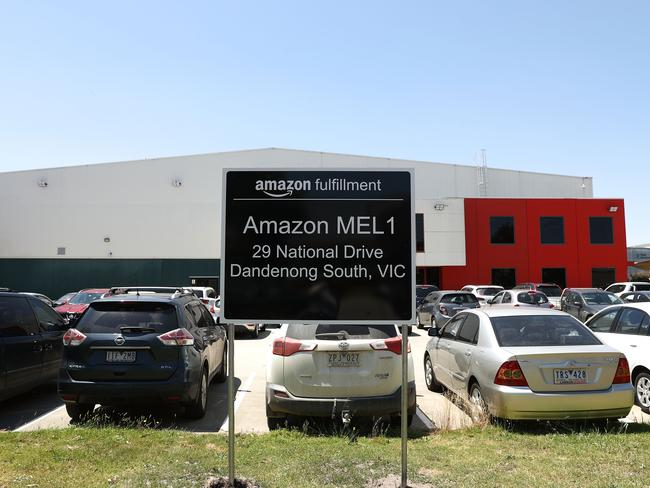 Amazon's Fulfilment Centre in Melbourne. Picture: Getty