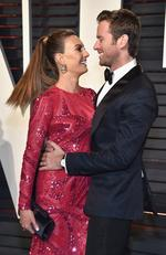 Elizabeth Chambers and Armie Hammer attend the 2017 Vanity Fair Oscar Party on February 26, 2017 in Beverly Hills, California. Picture: Getty