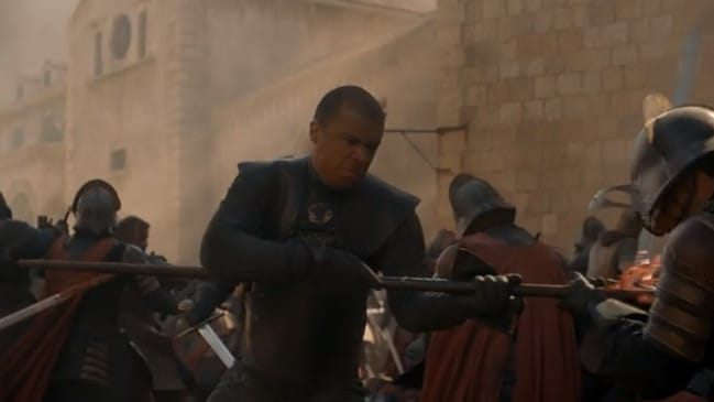Grey Worm — they literally just surrendered.