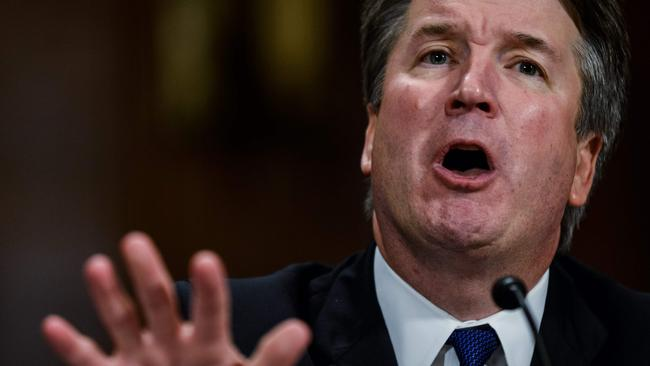 Mr Kavanaugh came out swinging. Pic: AFP