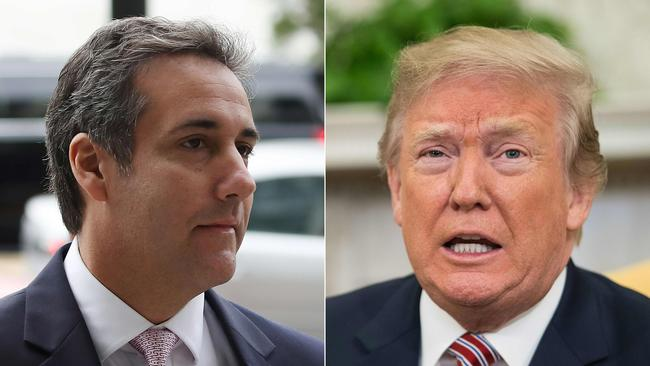 Prosecutors said Donald Trump ordered his then-lawyer Michael Cohen to make illegal payments to two women in exchange for their silence about having alleged affairs with the President. Picture: Getty Images North America and AFP/Mark Wilson and Nicholas Kamm