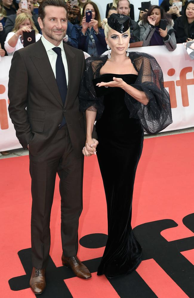Lady Gaga and Bradley Cooper arrive on the red carpet for the film A Star is Born during the 2018 Toronto International Film Festival. Picture: Nathan Denette