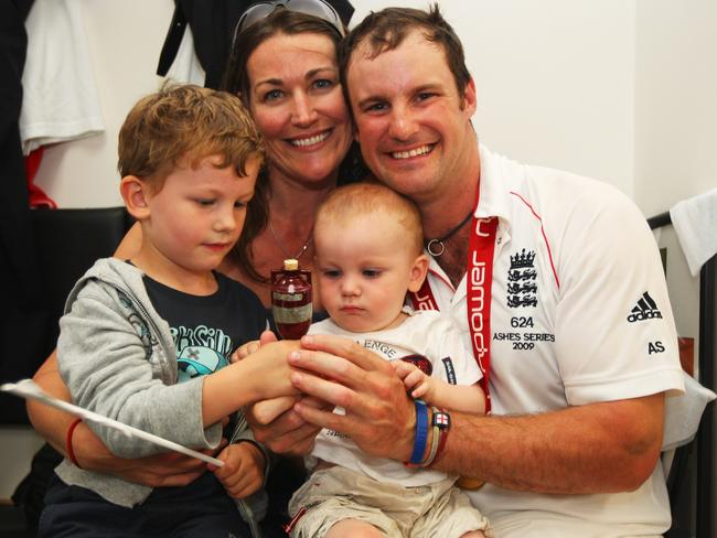 Andrew Strauss' family will set up a foundation for cancer research.
