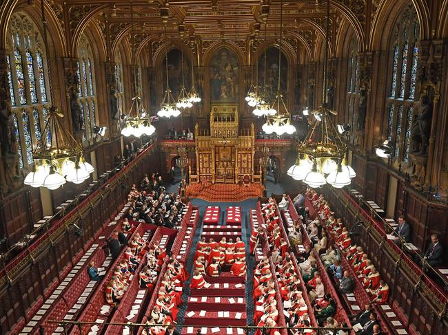 The scene in the House of Lords ahead of the State Opening of parliament. Picture: Victoria Jones / POOL / AFP.