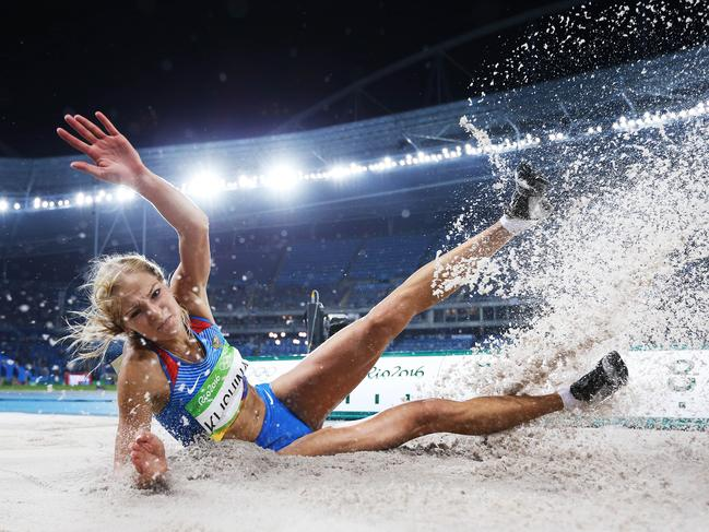 Darya Klishina was Russia's sole athletics competitor after a similar ban in Rio in 2016. Picture. Phil Hillyard