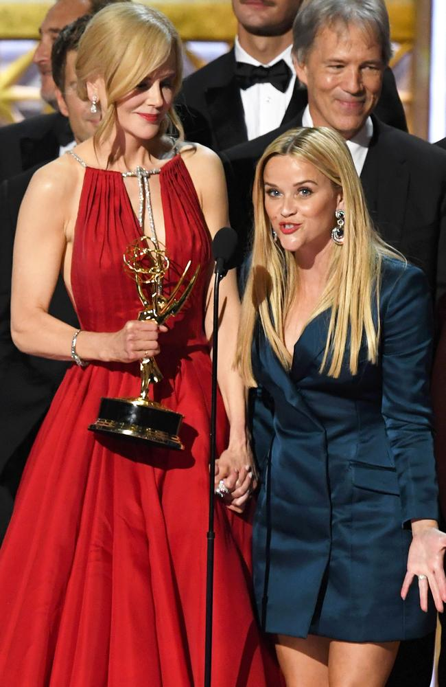 Big Little Lies co-stars and producing partners Nicole Kidman and Reese Witherspoon.
