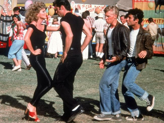 Actors Olivia Newton John and John Travolta in Grease. Picture: Supplied