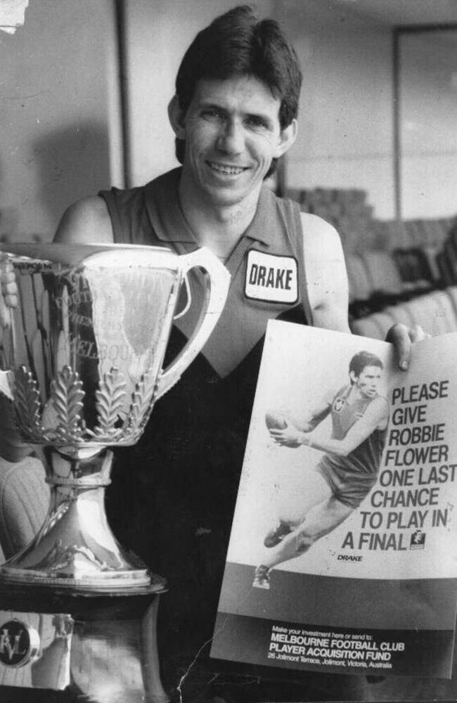 Robert Flower spearheads a campaign in 1986 to raise money to help the Demons recruit a star player.
