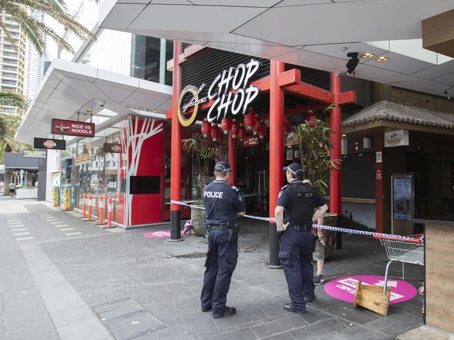 The food court has been cordoned off since this morning. Picture: Nigel Hallett