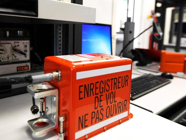 A flight recorder at the laboratory at the headquarters of the Office of Investigation and Analysis (Bureau d'Enquete et d'Analyses — BEA), Le Bourget, north of Paris. Pic: AFP