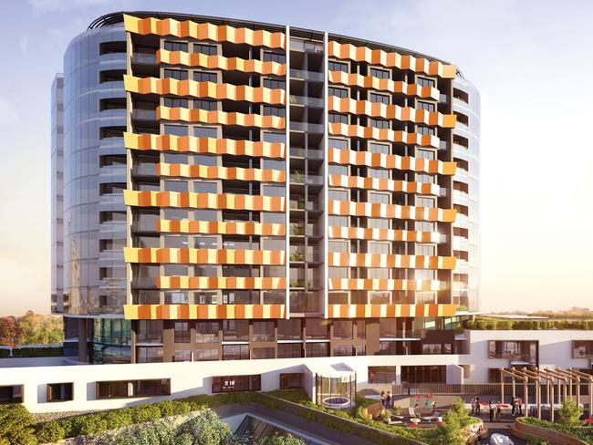 "An increase in high rise apartments, like this complex in Malvern, have seen a shortage of ""family friendly homes""."