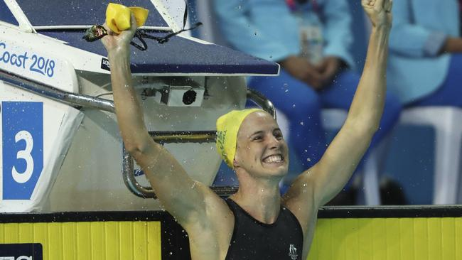 Bronte Campbell claims gold. Pic: AP