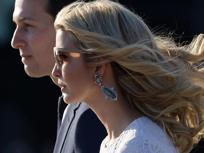 Ivanka Trump and Jared Kushner will report into Kelly. Picture: AFP/ Filippo MONTEFORTE
