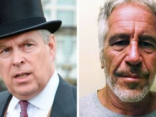 The plot thickens on the Jeffrey Epstein and Prince Andrew scandal. Image: John Stillwell / POOL / AFP, AFP PHOTO / NEW YORK STATE SEX OFFENDER REGISTRY/HANDOUT.