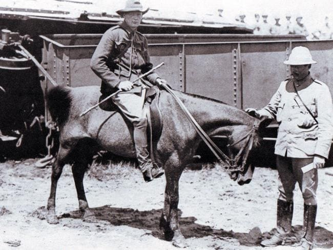 Winston Churchill in South Africa in 1899.
