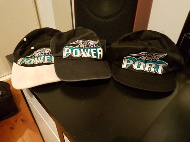 The brilliant hats in question. Credit: @jltredrea9