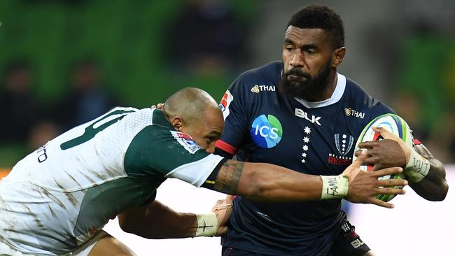 Marika Koroibete scored a double for the Rebels. Picture: AAP