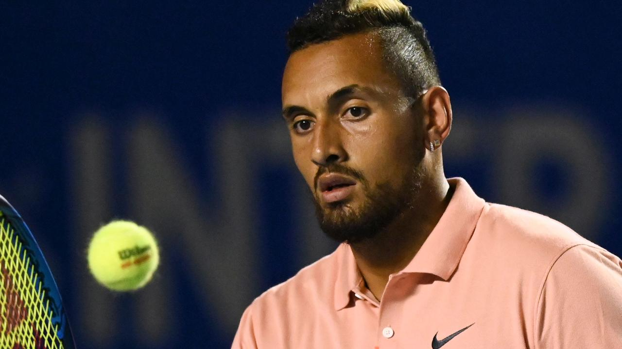 Nick Kyrgios says the pair split but nothing else happened. (Photo by PEDRO PARDO / AFP)