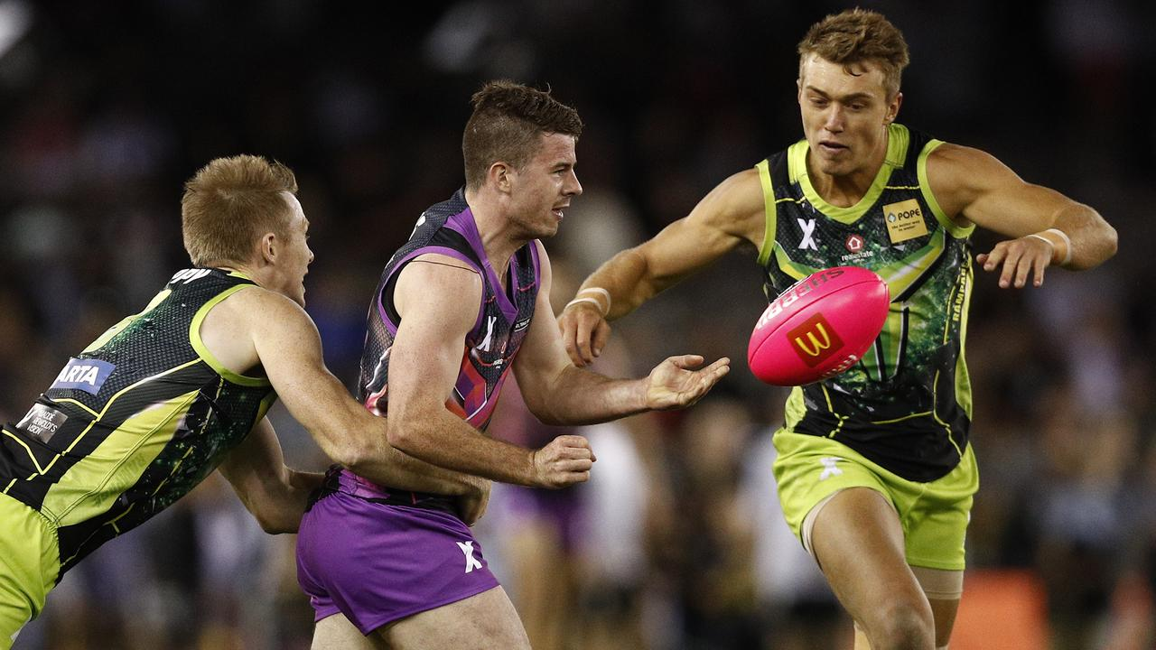 Come Round 1, it'll be Jack Riewoldt teaming up on Patrick Cripps — not Jack Higgins.