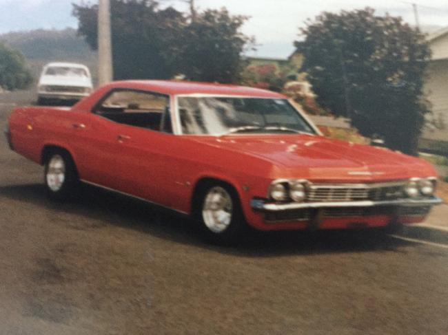 One of Dean's beloved cars which his family fondly remember him doing up. Picture: Supplied