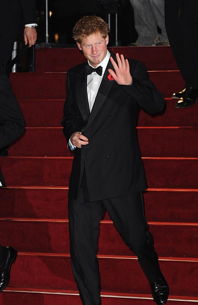 Prince Harry arrives for the World premiere of 'Quantum Of Solace'. Picture: Getty