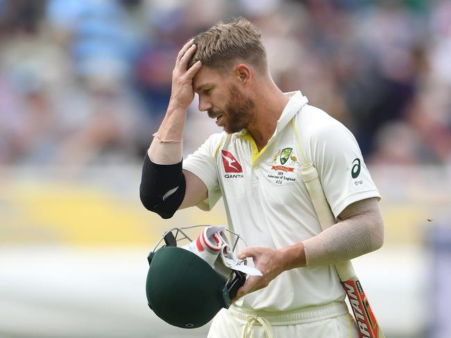 It hasn't been a pretty Test for Warner.