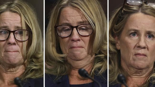 Some, like Ms Powell, felt Dr Ford's emotions were not genuine. Pic: AP