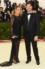 Jill Goodacre and Harry Connick Jr. attend the Heavenly Bodies: Fashion and The Catholic Imagination Costume Institute Gala at The Metropolitan Museum of Art on May 7, 2018 in New York City. Picture: AFP