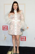 Yael Stone arrives on the red carpet at the 59th annual TV Week Logie Awards on April 23, 2017 at the Crown Casino in Melbourne, Australia. Picture: AAP