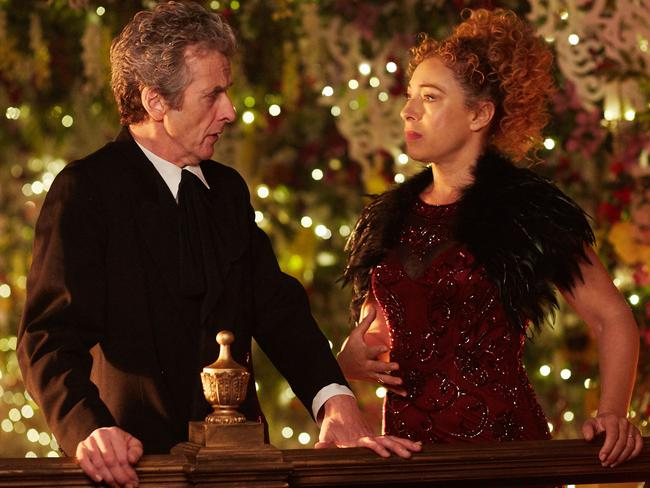 Peter Capaldi as the Doctor and Alex Kingston as River Song in the show's 2015 Christmas special, The Husbands of River Song. The character will not return in season 11. Picture: ABC