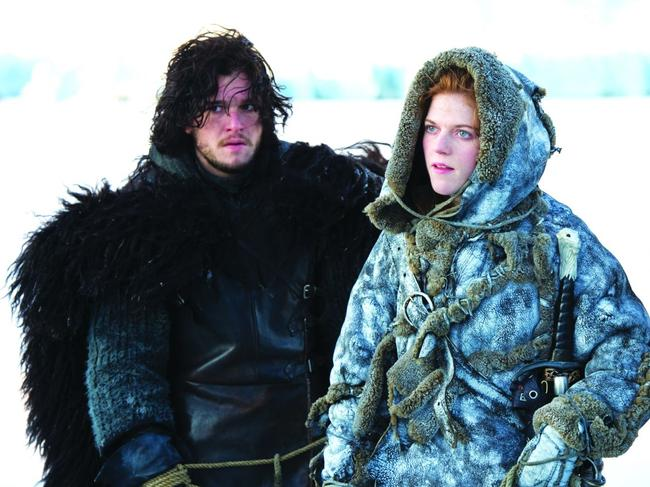 Jon Snow (Kit Harington) and Ygritte (Rose Leslie) are married in real life.