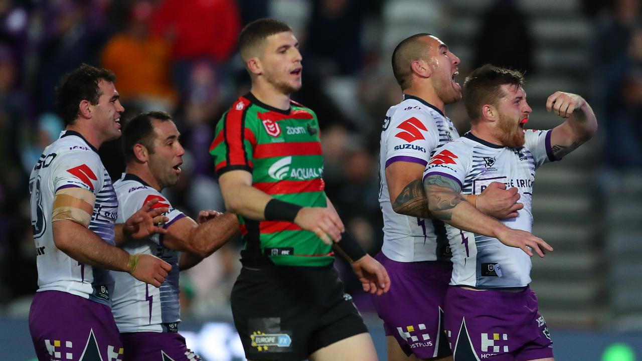 Cameron Munster played a starring role for the Storm against the Rabbitohs.