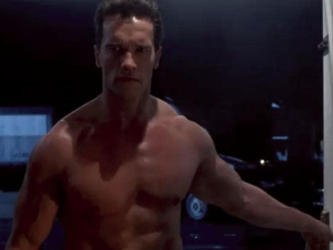 Arnold Schwarzenegger in film Terminator 2. Picture: Supplied