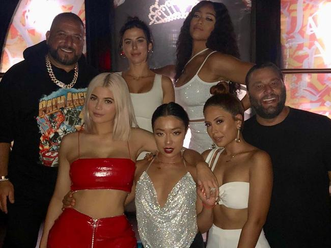 Kylie Jenner and BFF Jordyn Woods in Miami. Picture: @davegrutman/Instagram