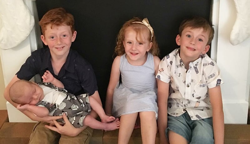 Awesome foursome baby lachie will blaire and sam photo bronwyn brady