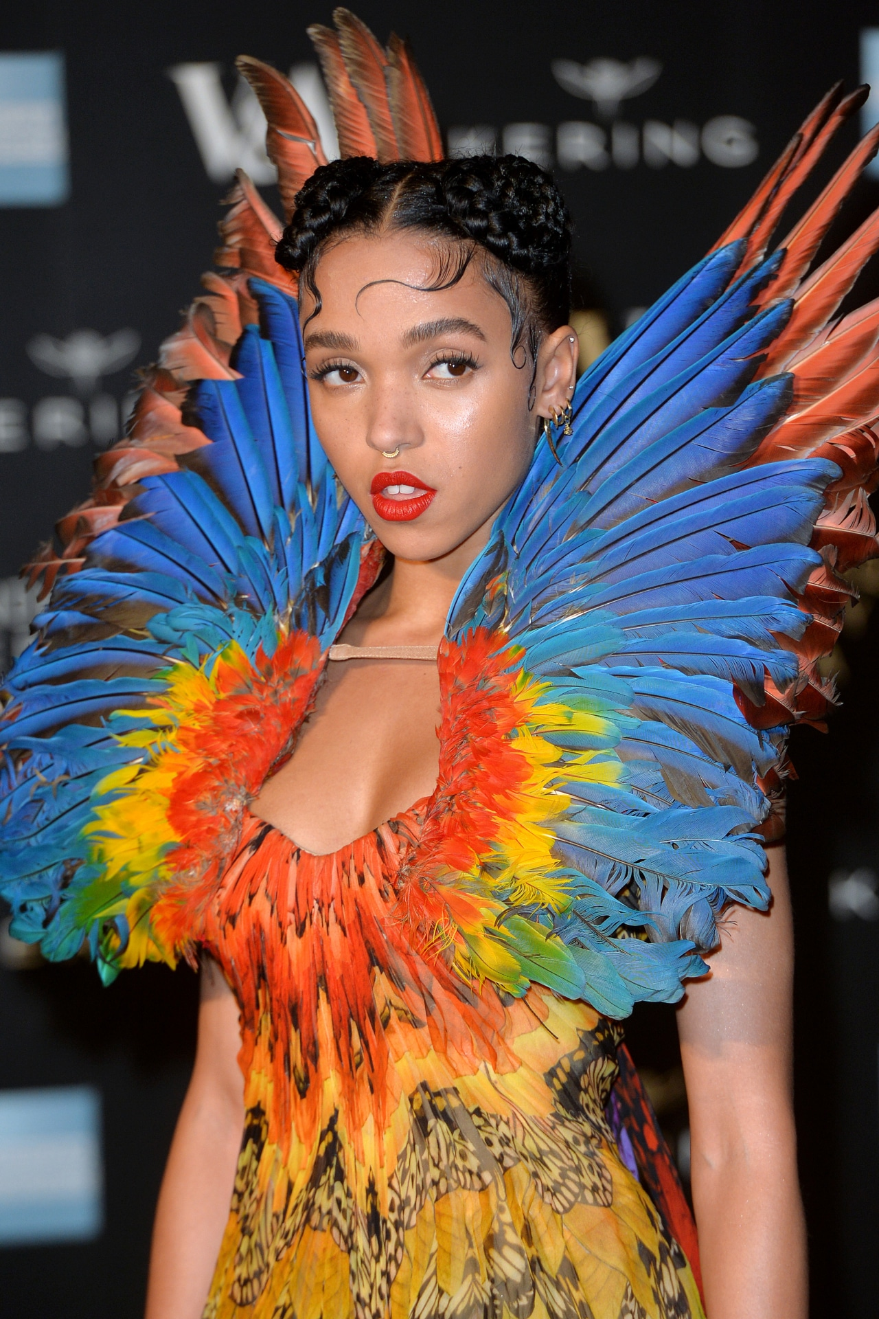 FKA Twigs attends a private viewing of the Alexander McQueen: Savage Beauty exhibition at Victoria & Albert Museum on March 12, 2015 in London, England. Image credit: Anthony Harvey/Getty Images
