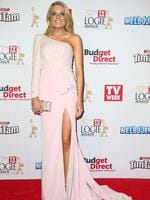 Erin Molan on the red carpet at the 2015 Logie Awards at Crown Casino in Melbourne. Picture: Getty
