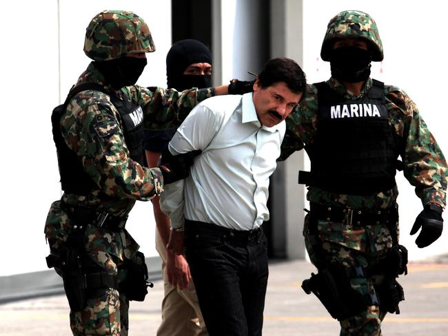 El Chapo is facing drug-trafficking charges in New York. Picture: Getty Images