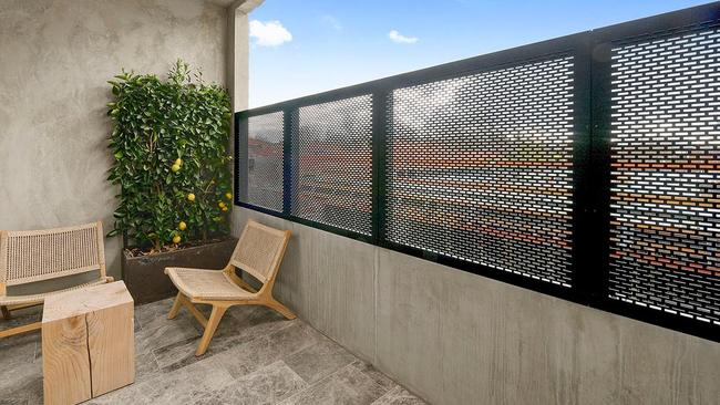 A private outdoor space at the property.