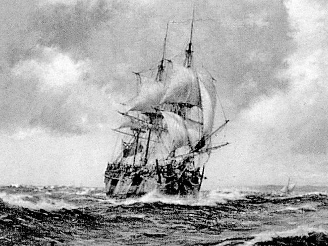 Agreement for new search ... A sketch of 18th century explorer Captain James Cook's HMS Endeavour.