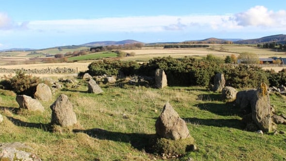 The stone circle at Leochel-Cushnie was only built in the 1990s. Picture: PA
