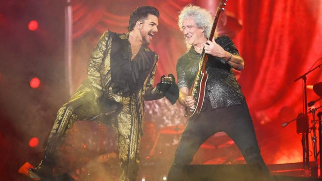 Queen and Adam Lambert could be playing bushfire benefit. Picture: Noam Galai