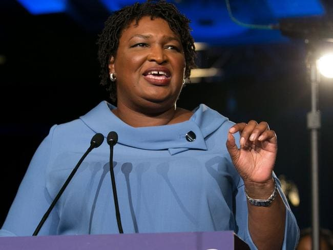 Rising star Stacey Abrams, who rose to prominence in her heated but unsuccessful Georgia governor's race, will deliver the rebuttal to the State of the Union address, a first for an African-American woman. Picture: Jessica McGowan and Emma McIntyre / Getty Images North America / AFP