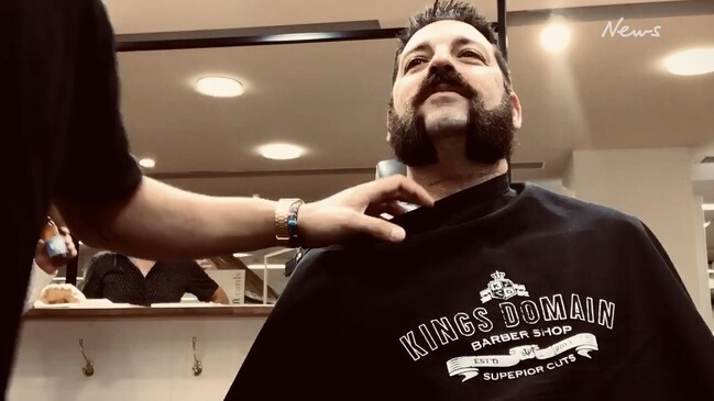 Mark Lorenti has a big beard and is shaving it all off for Movember