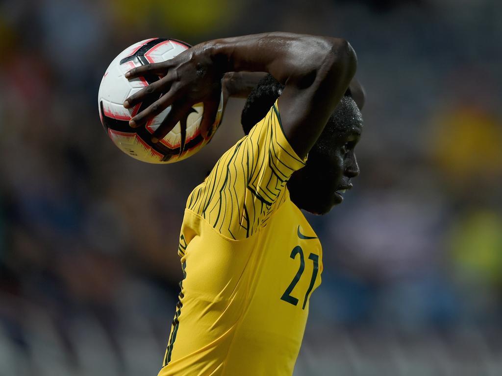 Deng made his Socceroos debut against Kuwait.