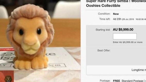 The rare furry toy was reportedly fetching a massive price online. Picture: eBay