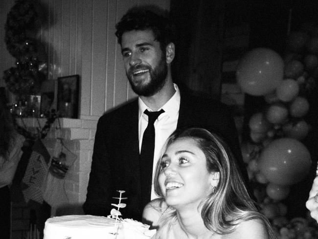 Cyrus posted loved-up snaps from her wedding on Instagram.