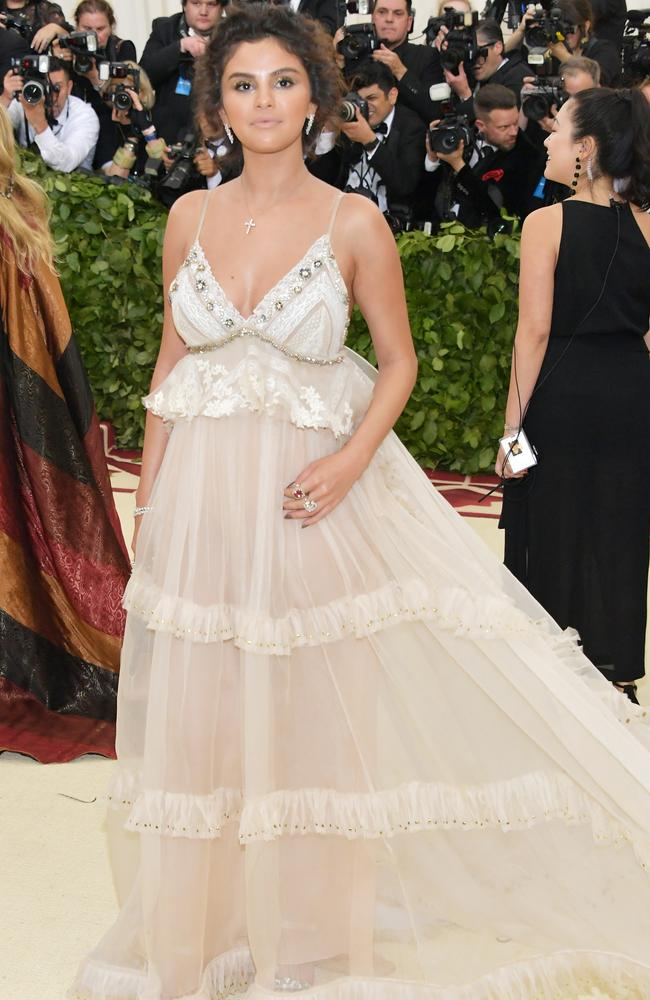 Selena Gomez attends the Met Gala. Picture: Neilson Barnard/Getty Images