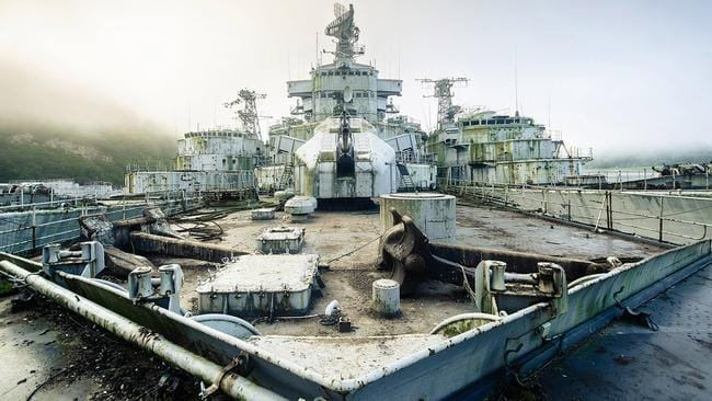 The Colbert, a former French missile cruiser, sits awaiting demolition. Picture: Bob Thissen/Caters