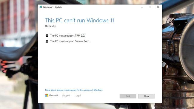 The lack of a special security chip will stop your computer installing Windows 11